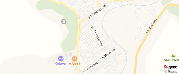 Улица Кирова на карте села Карабудахкента с номерами домов