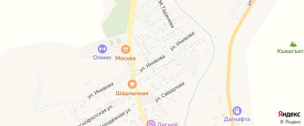 Проспект Джамалутдина Гаджи на карте села Карабудахкента с номерами домов