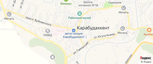 Кольцевая улица на карте села Гели с номерами домов