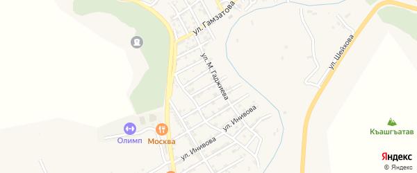Улица Калинина на карте села Карабудахкента с номерами домов
