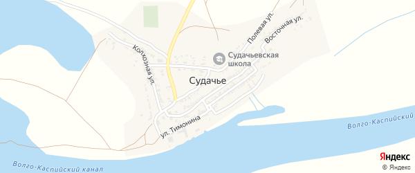 Улица Тимонина на карте села Судачьего с номерами домов