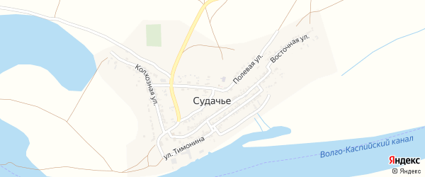 Полевая улица на карте села Судачьего с номерами домов