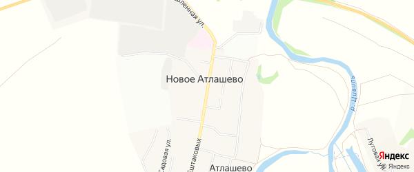 СТ 70 лет Октября на карте Ишлейского сельского поселения с номерами домов