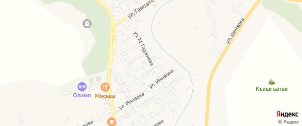 Улица М.Гаджиева на карте села Карабудахкента с номерами домов