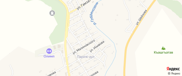 Улица Гаджиева на карте села Гели с номерами домов
