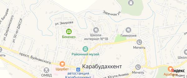 Улица Маркова на карте села Карабудахкента с номерами домов