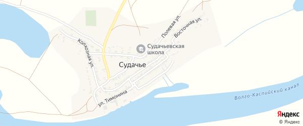 Восточная улица на карте села Судачьего с номерами домов