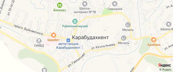 Пролетарская улица на карте села Карабудахкента с номерами домов