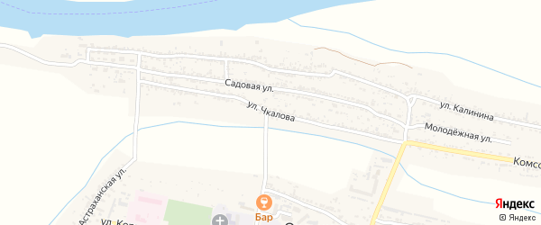Улица Чкалова на карте села Оранжереи с номерами домов