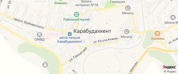 8-й тупик на карте села Карабудахкента с номерами домов