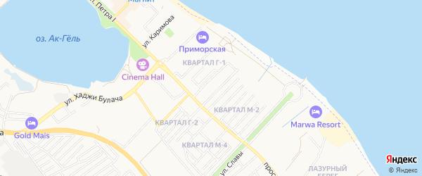 Карта квартала Г-1 города Махачкалы в Дагестане с улицами и номерами домов