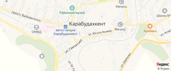 Улица Семашко на карте села Карабудахкента с номерами домов