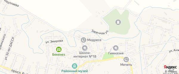 Речной переулок на карте села Карабудахкента с номерами домов