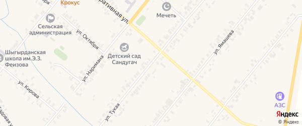Тукая улица на карте села Шыгырдана с номерами домов