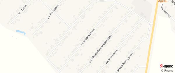Чкаловская улица на карте села Шыгырдана с номерами домов