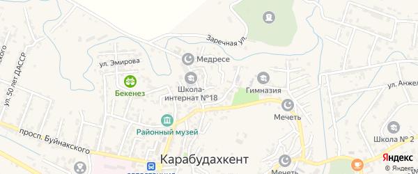 Улица Ирчи Казака на карте села Карабудахкента с номерами домов