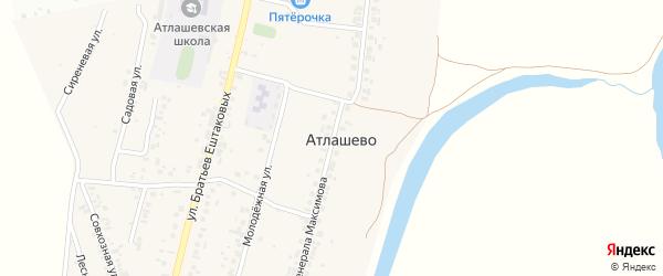 Улица Генерала Максимова на карте деревни Атлашево с номерами домов
