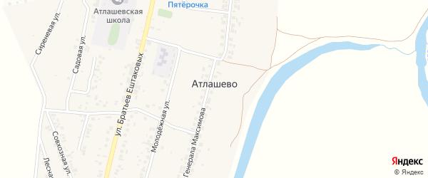 Совхозная улица на карте деревни Атлашево с номерами домов