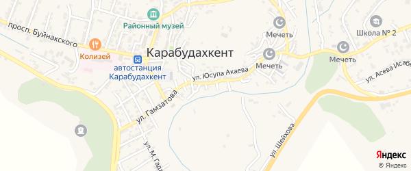 7-й тупик на карте села Карабудахкента с номерами домов