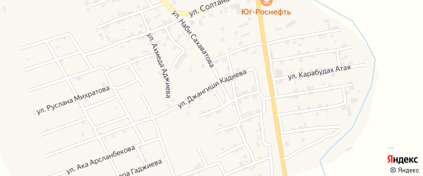 Улица Джангиши Кадиева на карте микрорайона Къонгураул с номерами домов