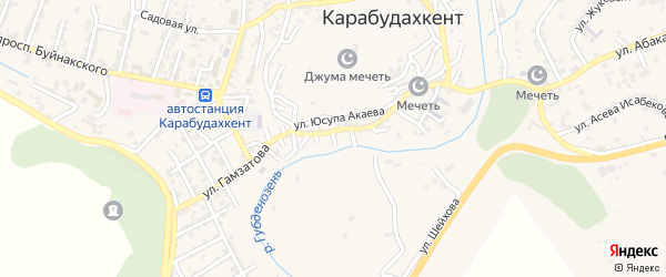6-й тупик на карте села Карабудахкента с номерами домов