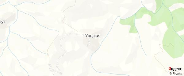 Карта села Урцаки в Дагестане с улицами и номерами домов