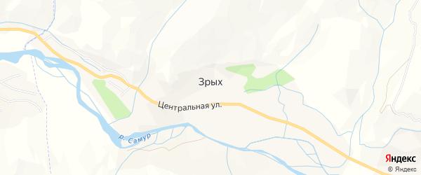 Карта села Зрых в Дагестане с улицами и номерами домов