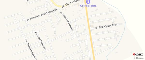 Улица Наби Сахаватова на карте села Карабудахкента с номерами домов