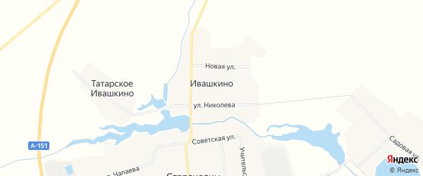 Карта деревни Ивашкино в Чувашии с улицами и номерами домов