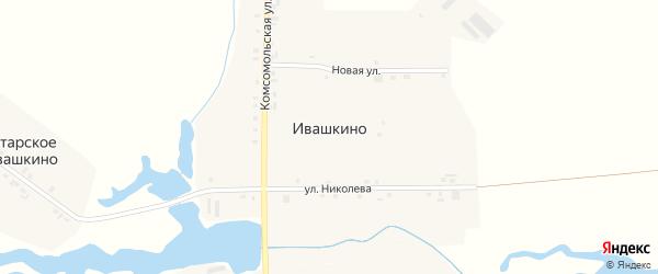 Улица Николаева на карте деревни Ивашкино с номерами домов