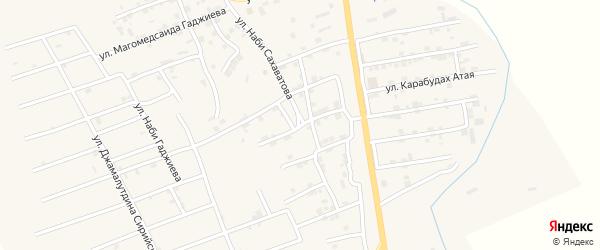 Улица Арсана Абдуллагатова на карте села Карабудахкента с номерами домов