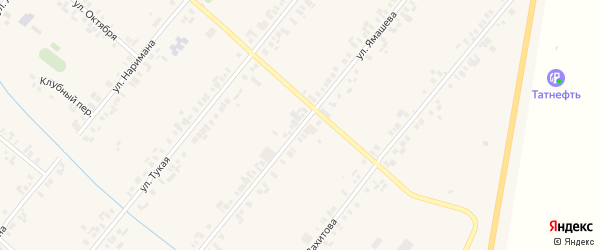 Улица Ямашева на карте села Шыгырдана с номерами домов
