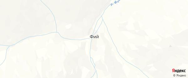 Карта села Фий в Дагестане с улицами и номерами домов
