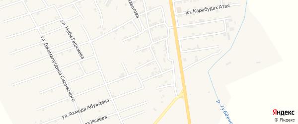 Улица Гусеина Умарпашаева на карте села Карабудахкента с номерами домов