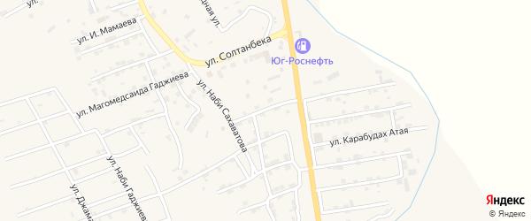 Улица Башира Халилова на карте села Карабудахкента с номерами домов