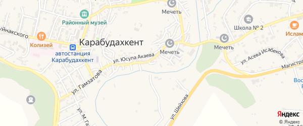 5-й тупик на карте села Карабудахкента с номерами домов