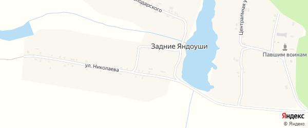 Улица Володарского на карте деревни Задние Яндоуши с номерами домов