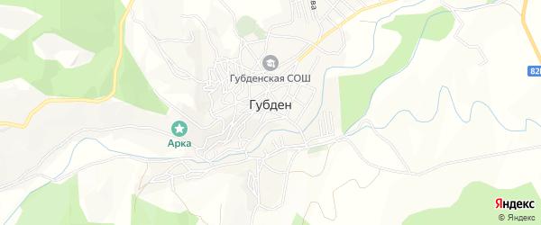 Карта села Губдена в Дагестане с улицами и номерами домов