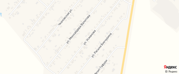 Улица Усманова на карте села Шыгырдана с номерами домов