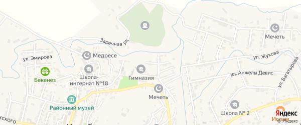 Гвардейская улица на карте села Карабудахкента с номерами домов