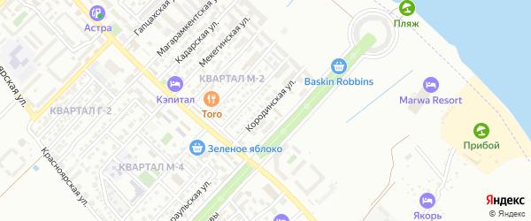 Нижневартовская улица на карте Махачкалы с номерами домов