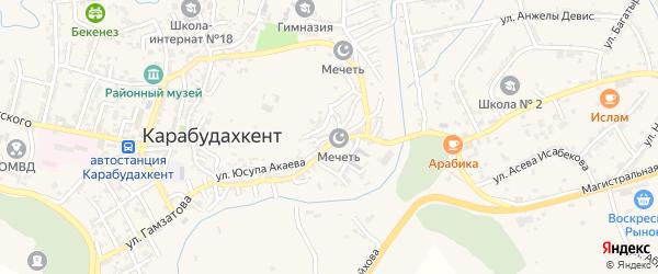 Улица Филатова на карте села Карабудахкента с номерами домов