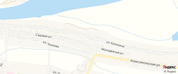 Переулок Калинина на карте поселка Красные Баррикады с номерами домов