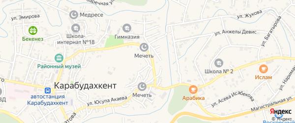 Мопровская улица на карте села Карабудахкента с номерами домов
