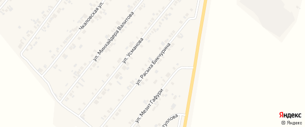 Улица Расыха Бикчурина на карте села Шыгырдана с номерами домов