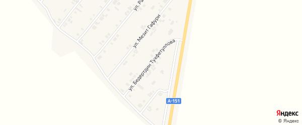Улица Бедертдин Тухфетуллова на карте села Шыгырдана с номерами домов