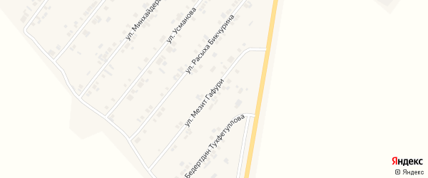 Улица Мезит Гафури на карте села Шыгырдана с номерами домов