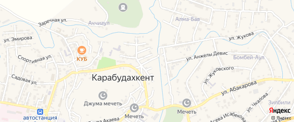 Самурская улица на карте села Карабудахкента с номерами домов