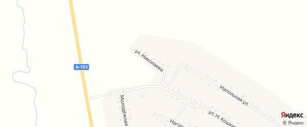 Улица Николаева на карте деревни Новое Котяково с номерами домов
