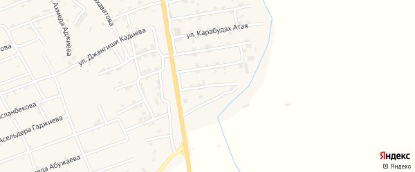 Улица Гаруна Магомедханова на карте села Карабудахкента с номерами домов